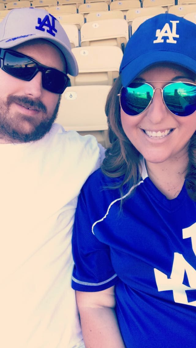 Because of our busy schedules between working for the school district and him coaching football. Lil getaways like the dodger game help us keep our sanity and adult #hofsashousegetaways