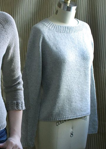 Top Down Pullover Knitting Pattern - Basic Sweater Pattern - Chic Knits Basic Chic Pulli - Downloadable Knitting Patterns