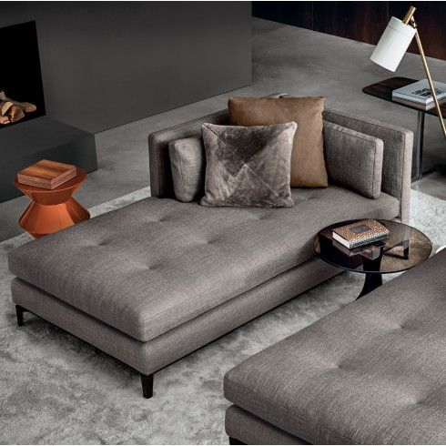 Minotti andersen chaise longue paolina nieuwe collectie for Andersen leather chaise sectional