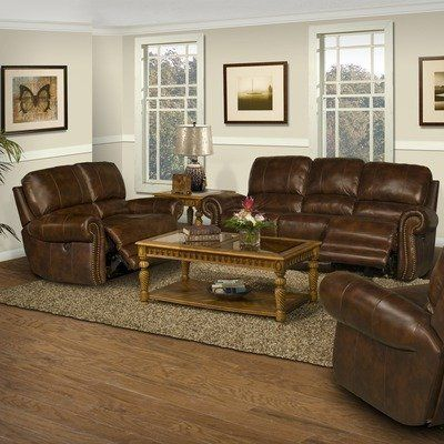 Motion Thor Leather Match Dual Recliner Sofa And Loveseat Set Type: Power  By Parker.