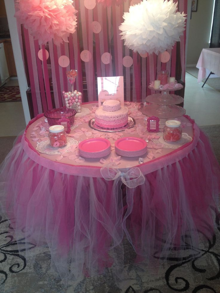 Tutu baby shower decorations via kevyn slayton ideas for Baby shower decoration ideas for girl