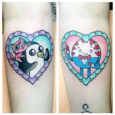 Gunter and Peppermint Butler tattoos by Alex Strangler at The Dolorosa in LA Georgia: Instagram Alex Strangler: Tumblr / Instagram