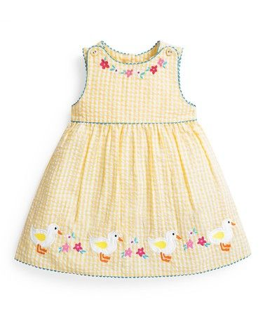45487f275c37 Loving this Buttercup Ducks Gingham Dress - Infant, Toddler & Girls on # zulily! #zulilyfinds