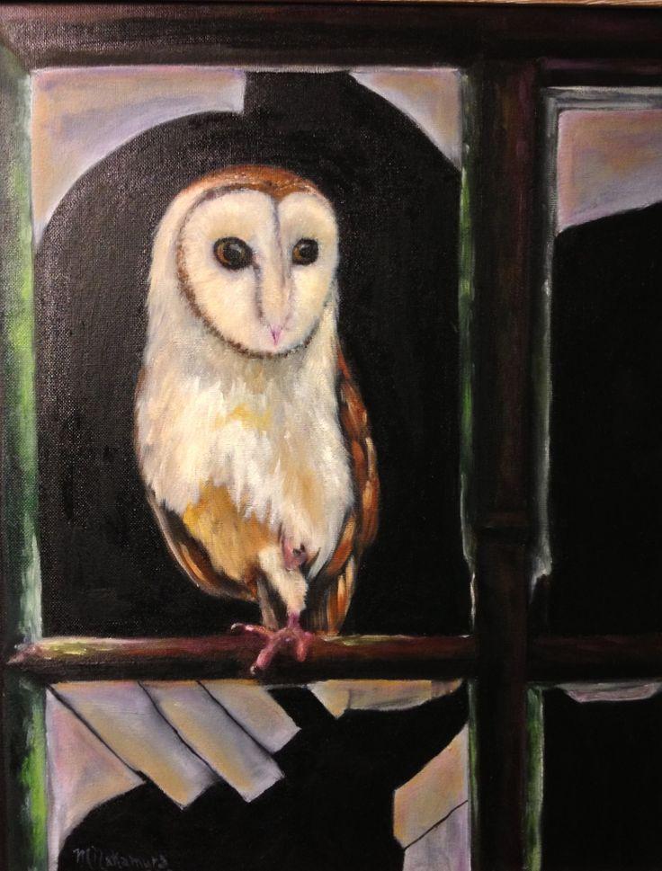 Watching. Oil on canvas. Maryrosenakamurafineart@gmail.com