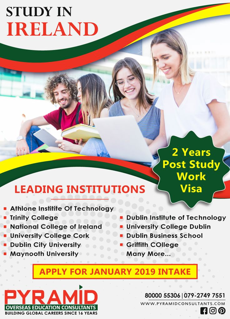 Study in Ireland 2 Years Post Study Work Visa JAN '19
