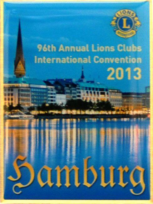 Hamburg 96th International Convention Commemorative Pin - $5.95 https://www2.lionsclubs.org/p-991-hamburg-2013-conv-pin.aspx