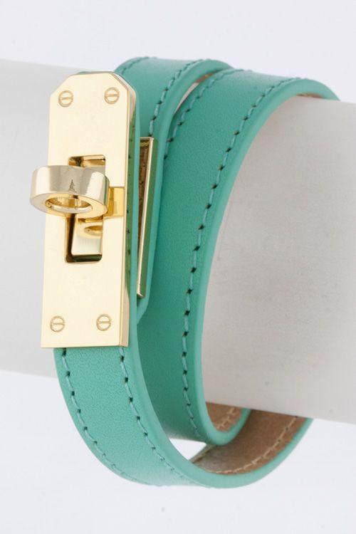 Mint Leather Wrap Bracelet: Coach Bracelet, Picture, Leather Wrap Bracelets, Fashion Bracelets, Jewelry Loves, Turquoise Leather Gold, Jewelry Ideas, Leather Bracelets