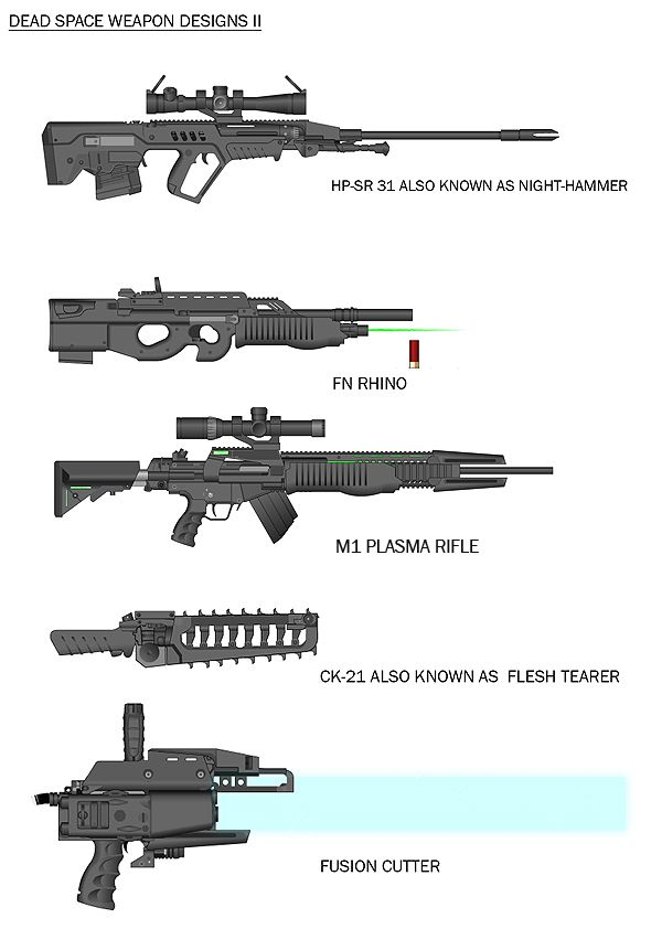 Dead space weapon designs 2 by RedSkittlez-DA | Weapon ...