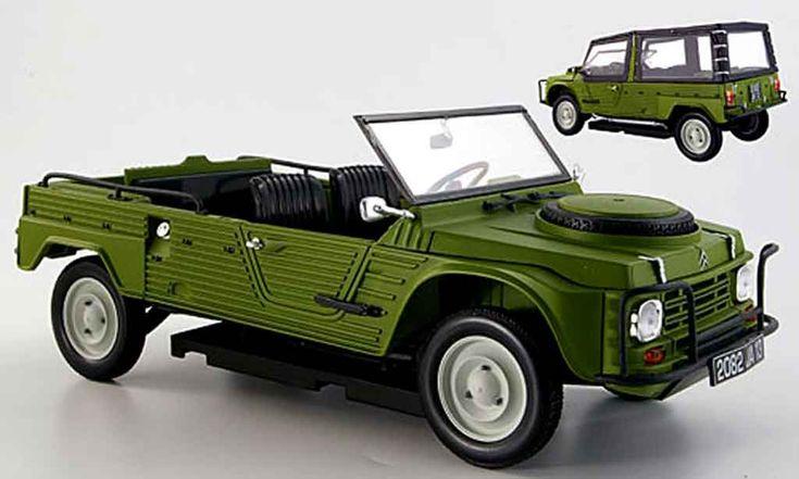 Miniature Citroen Mehari 4x4 verte 1979 Norev. Citroen Mehari 4x4 verte 1979 miniature 1/18