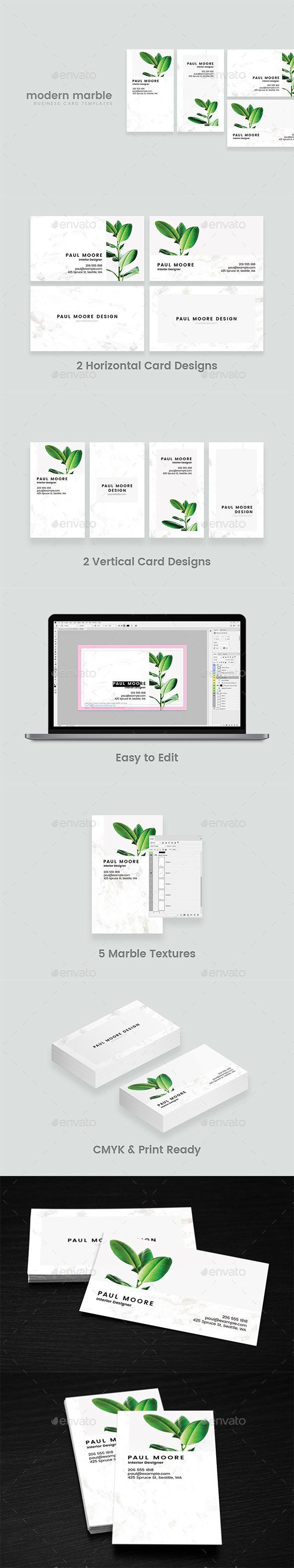 2867 best business card template design images on pinterest modern marble business card reheart Images
