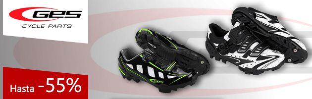 Rebajas zapatillas GES carretera y montaña. Calzado desde 29,50 euros