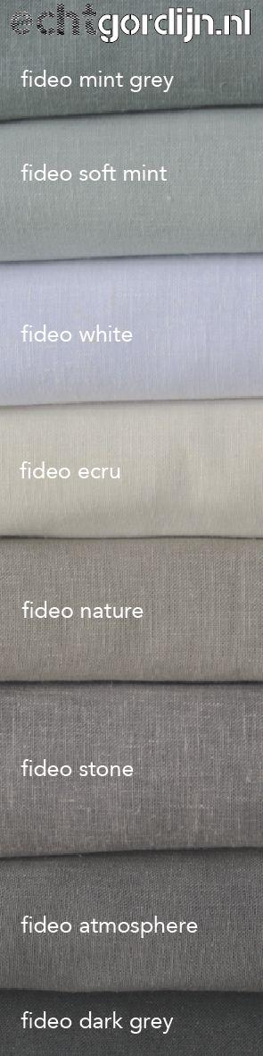 Ben je op zoek naar een mooie inbetween gordijnen, met een linnen look? Dan hebben we nu de fideo in vele kleuren. Vraag gratis stalen via de website
