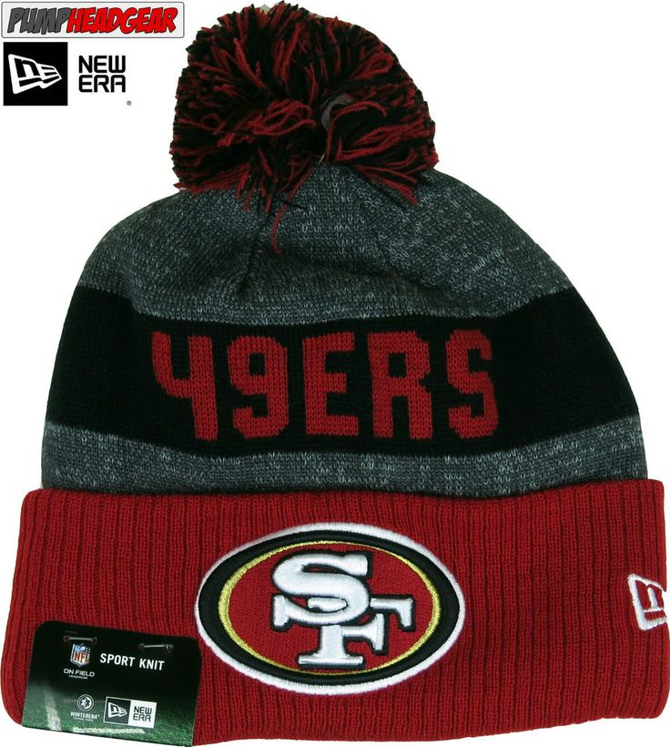 San Francisco 49Ers New Era NFL Sideline Sport Knit Bobble Hat