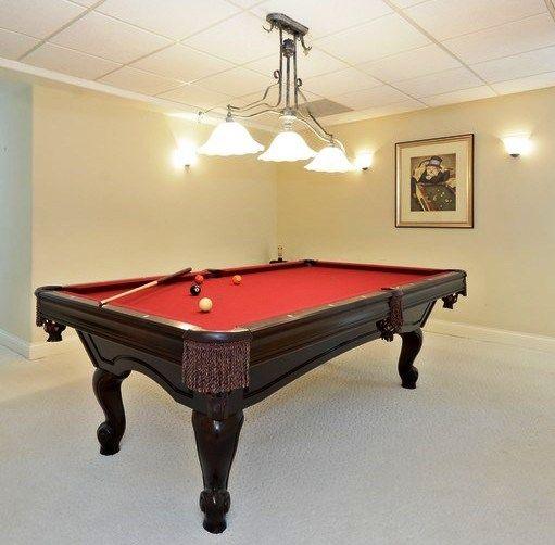Brunswick billiards 8 39 green briar pool table pool for Brunswick pool