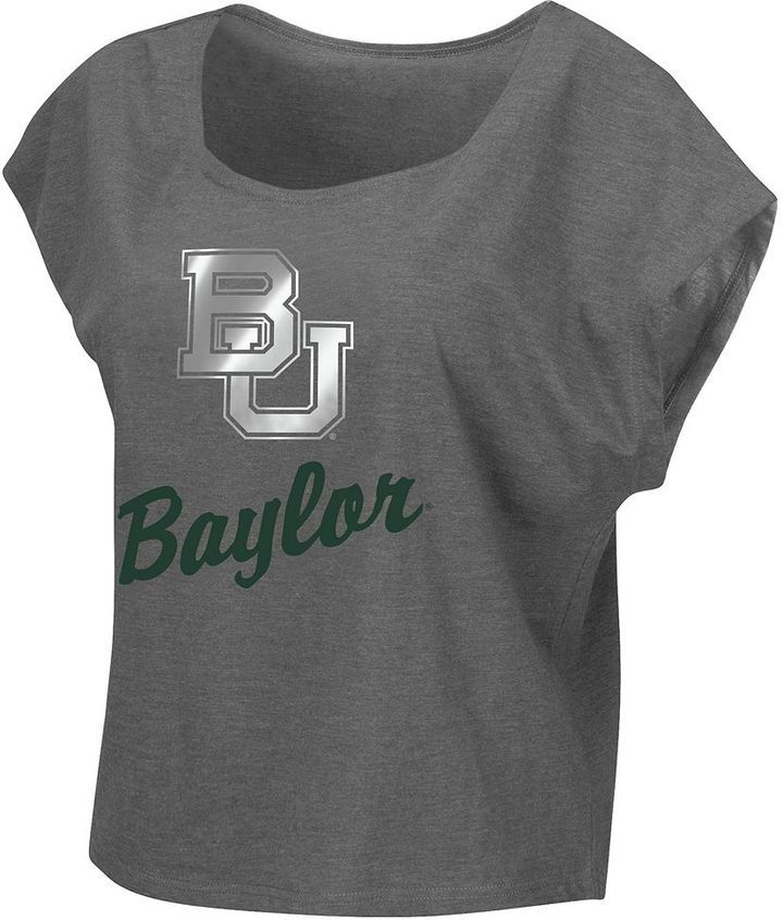 Juniors' Campus Heritage Baylor Bears Foiled Again Boatneck Tee