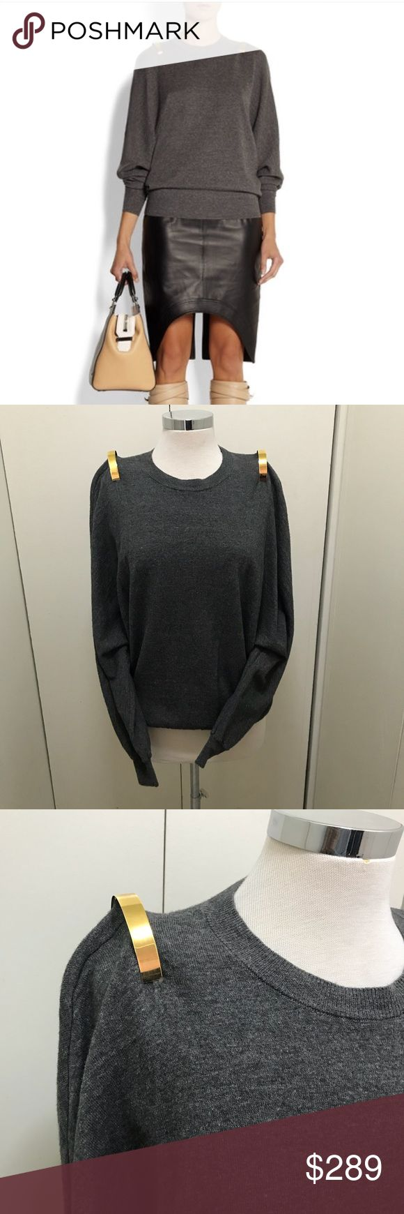 Givenchy sweater Gold bar sweater by Givenchy. In fantastic preowned condition. Retails for $1215 currently on sale at net a porter for over $600 . Open to sensible offers. Guaranteed authentic Givenchy Sweaters Crew & Scoop Necks