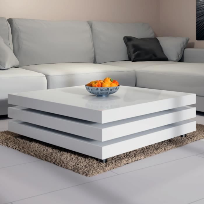 Table Basse De Salon Moderne 60 X 60 Cm Blanc Table Basse Salon Salon Blanc Table Basse