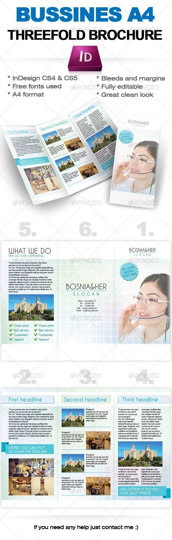 17 best images about print templates on pinterest fonts for Free indesign brochure templates cs5