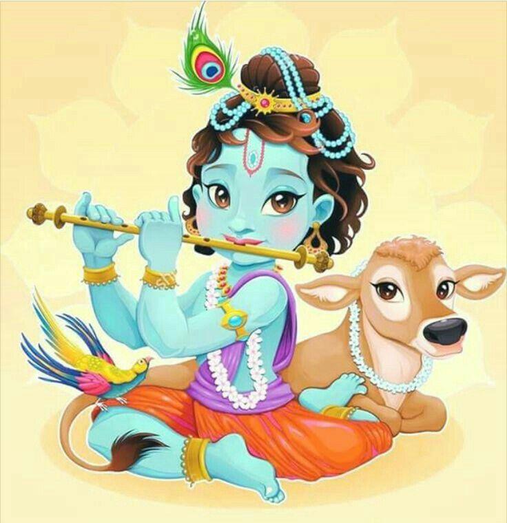 10 best Krishna & Cow images on Pinterest | Lord krishna, Hinduism ...