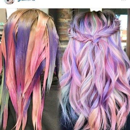 Unicorn Hair: pink and lilac purple