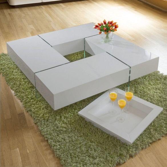 Modern Large Avorio Grey Gloss Coffee Table 1194 Mm Square Glass Legs White Gloss Coffee Table Coffee Table Coffee Table Square
