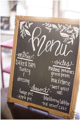 Chalkboard menu | Ivory Door Studio | see more at http://fabyoubliss.com