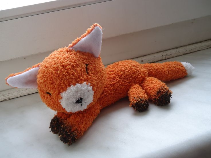 Fox Sock Plushie DIY  Maybe from fuuzy fleece?