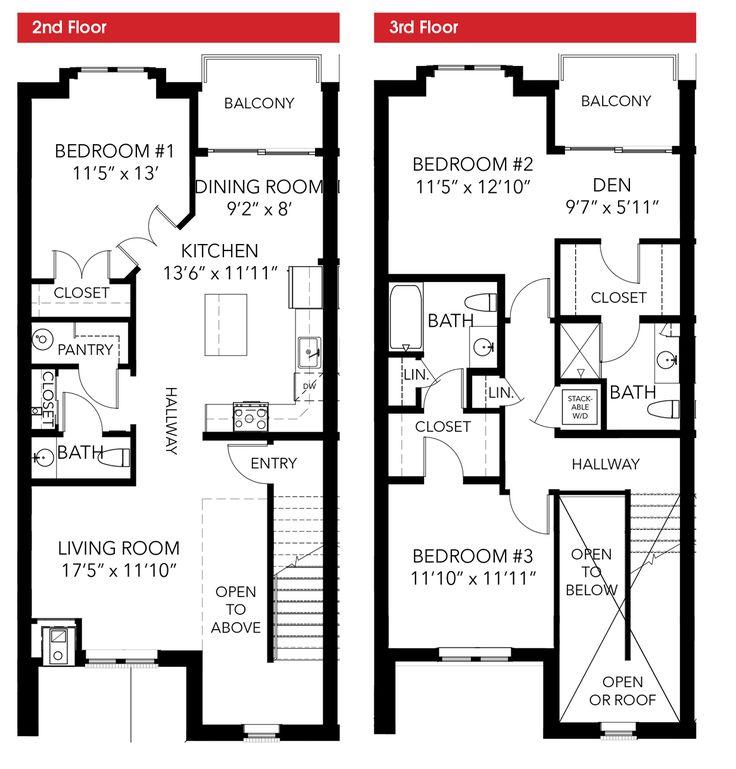 3 Bedroom Townhomes: 3 Bedroom, 2-story LEED Certified