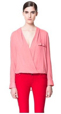 Zara: BLUSA DRAPEADA  29,95 EUR