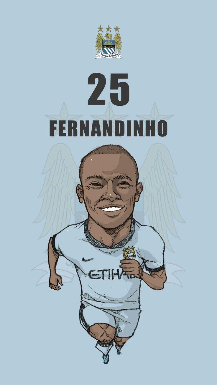 """Manchester city fan art for mobile wallpaper """"Fernandinho"""""""