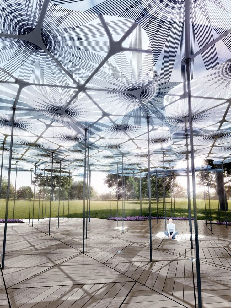 Architecture For Future-Architecture.Urbanism.Interior.Art.Technology — Amanda Levete erects translucent petals for MPavilion in Melbourne