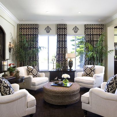 Living Room - traditional - family room - san diego - by Robeson Design.  Much better than 'traditional' living room set up - 61 Best Images About Furniture Arrangement - Four Chairs On