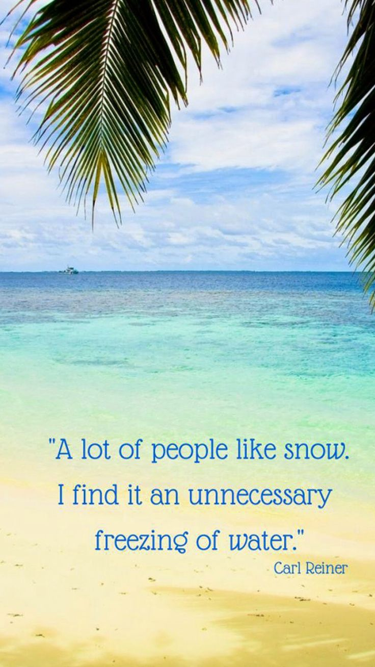 For everyone dreaming of Florida and the Caribbean this winter!