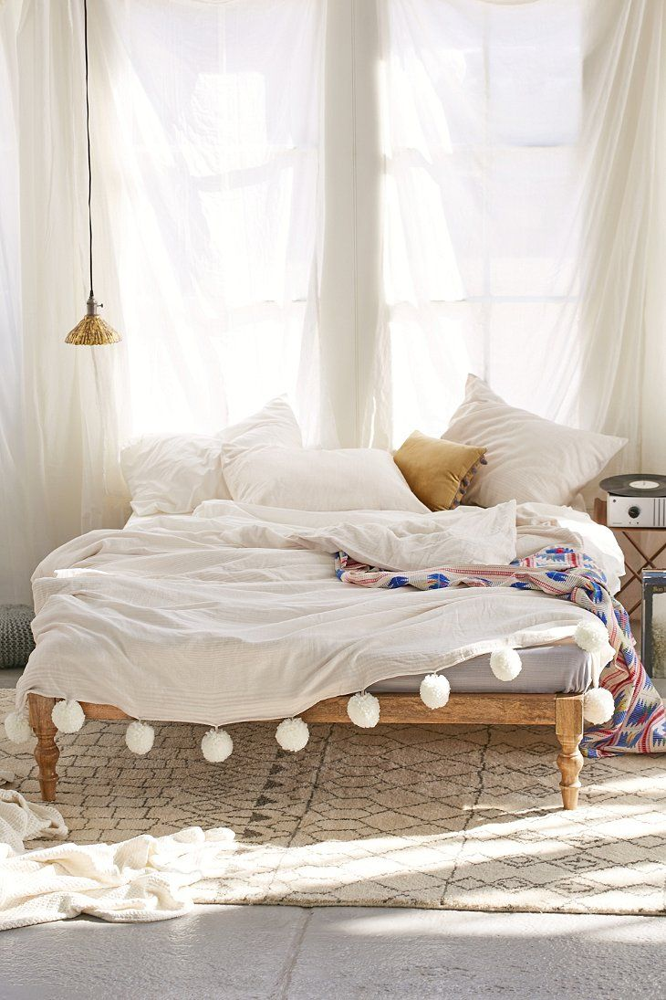 Boho Bedroom | Moroccan Comforter | Interior Design | Gypsy Bedroom | Magical Thinking Bohemian Platform Bed - Urban Outfitters
