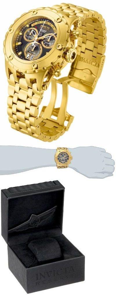 Wristwatches 31387: Invicta Mens 14470 Subaqua Analog Swiss-Quartz Gold Watch BUY IT NOW ONLY: $266.8