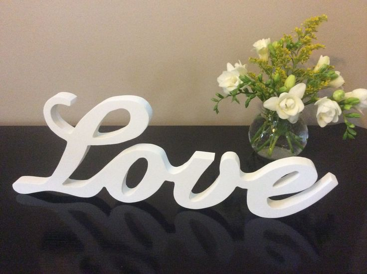 Adorable White Love Word Sign A Lovely Addition To A Bedroom Or Lounge