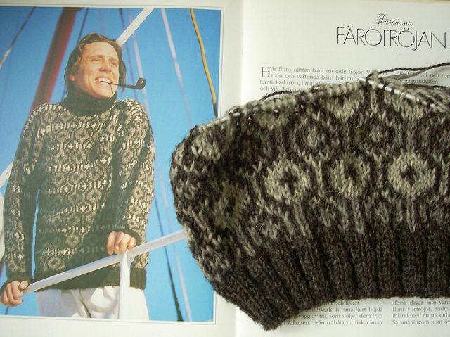 Faroese sweater in progress by Asplund, via Flickr