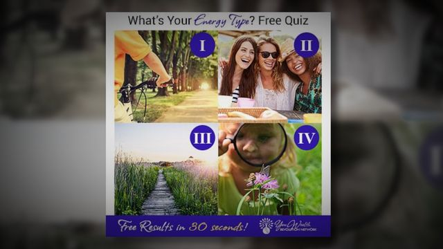 Visit http://ow.ly/J2QS303SFhk to take the free quiz to discover your energy…