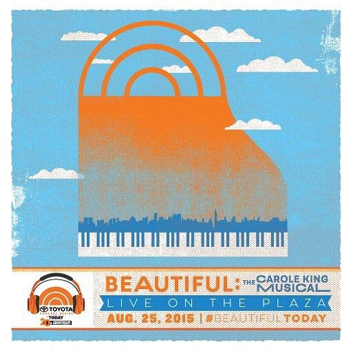 "@beautifulonbway is performing live on the @todayshow Plaza tomorrow! @carole_king, Chilina Kennedy, Abby Mueller, and the cast of #Beautiful perform ""Natural Woman"" and ""I Feel the Earth Move"" on the Today Show at 8am & 9am. Set your DVRs! #BeautifulToday #BeautifulSHN #CaroleKing"