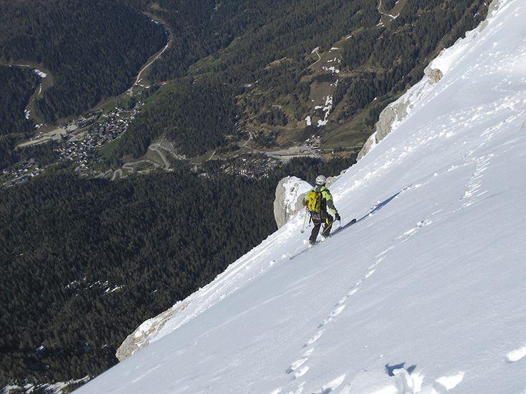 #Dolomiti, prima discesa del #Pelmetto - #SkiMountaineering #Adventure #Dolomites #Italy