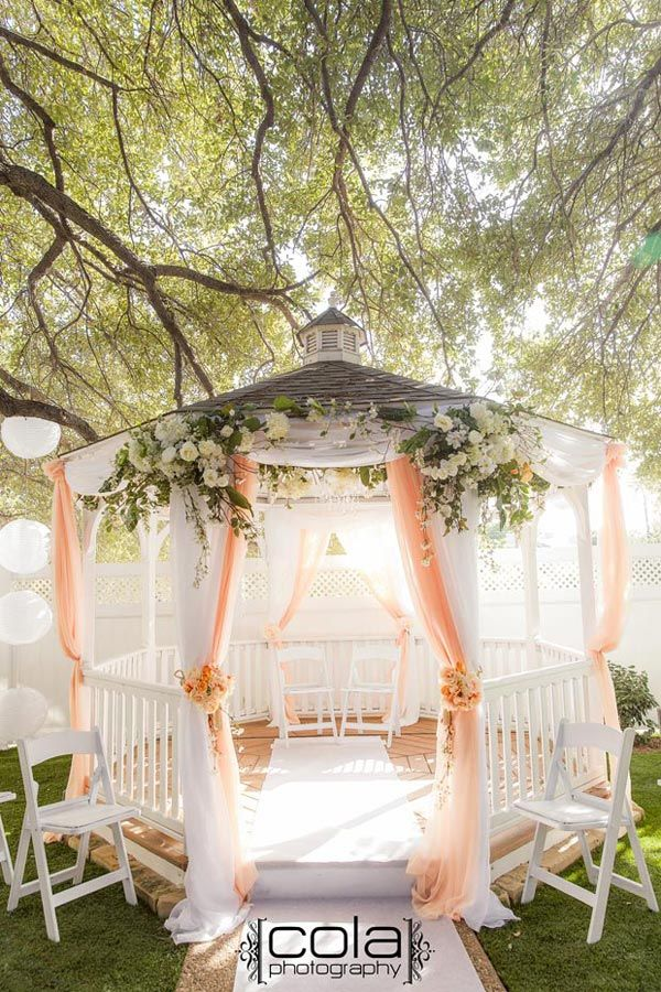 Gazebo decoration ideas for weddings for Outdoor wedding gazebo decorating ideas