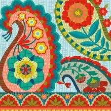 Really love the bold colors of this paisley print...