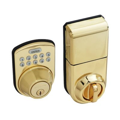 Honeywell Digital Single Cylinder Keyless Electronic Deadbolt Finish: Polished Brass