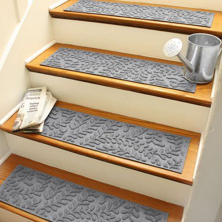 Bungalow Flooring Boxwood Indoor Outdoor Stair Treads Set Of 4   Walmart Outdoor Stair Treads   Rubber Stair   Rubber Backed   Walmart Com   Step Mats   Anti Slip