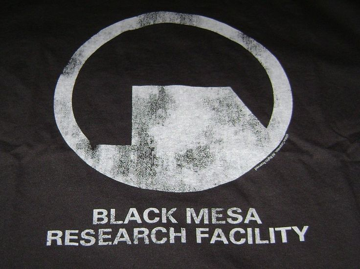 HALF LIFE 2 BLACK MESA T-SHIRT 4XL 4X XXXXL RESEARCH FACILITY NEW VALVE GAME TEE
