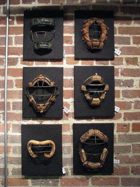 displaying heirloom catcher's face masks