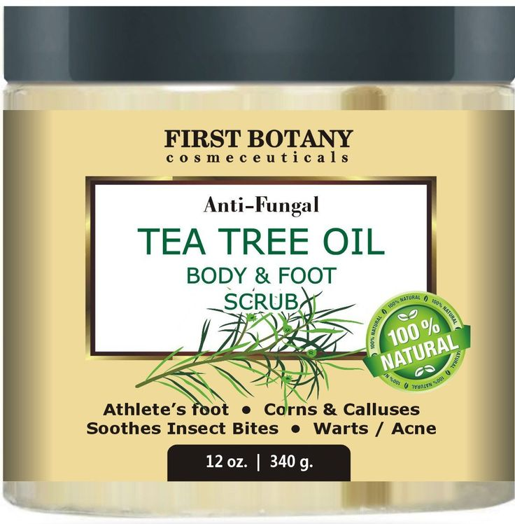 100% Natural Anti Fungal Tea Tree Oil Body and Foot Scrub 12 oz. with Dead Sea Salt - Best for Acne, Dandruff and Warts, Helps with Corns, Calluses, Athlete foot, Jock Itch and Body Odor *** Check out the image by visiting the link.