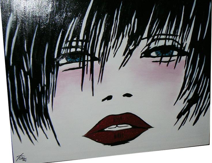 Valetina Crepax molto sexy! #handmade #pop #art #glitter #hard #comic #fumetti #love