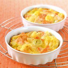 WeightWatchers.fr : recette Weight Watchers - Clafoutis de saumon aux légumes