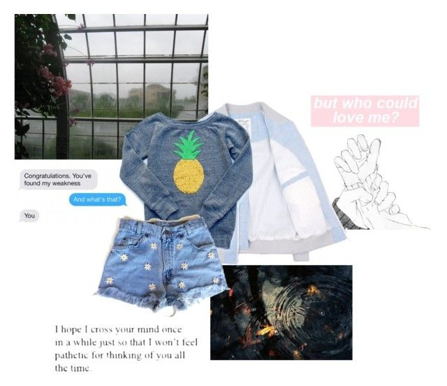 """""""Surprise Rainstorm"""" by secretz-007 ❤ liked on Polyvore featuring Lab and Love Quotes Scarves"""